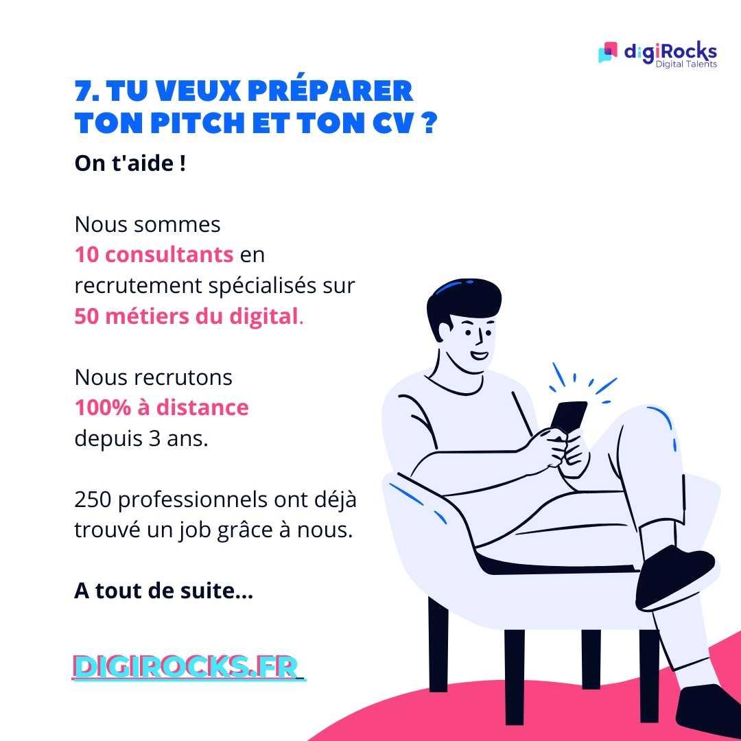 Tu veux préparer ton Pitch et ton CV avec un rocker ? Direction www.digirocks.fr #digiRocks